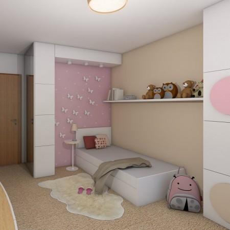 Dětský pokoj pro malou školačku