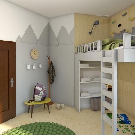 Studentský pokoj mladého horala