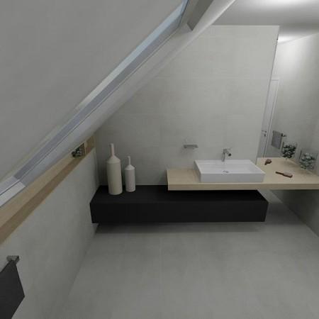 Návrh podkrovnej kúpeľne