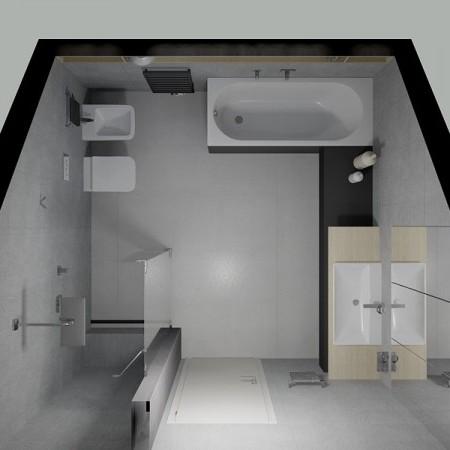 Návrh podkrovnej kúpeľne II.