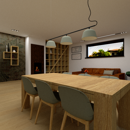 Obývacia izba s jedálenskou časťou