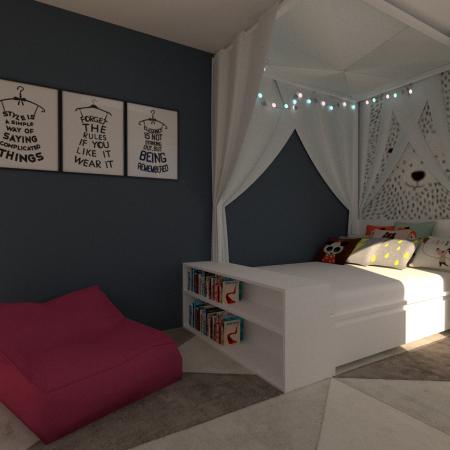 Detská izba pre malú školáčku