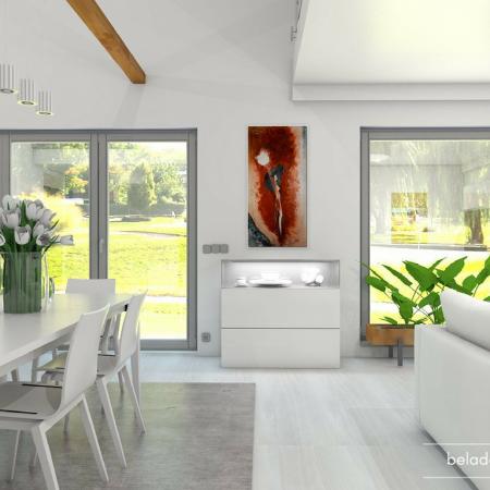Obývací a jídelní část domu
