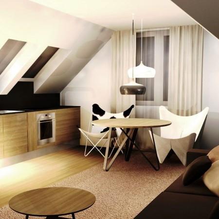 Podkrovná obývačka